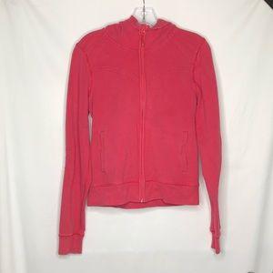 Lululemon Hoodie Jacket Coral Size 10